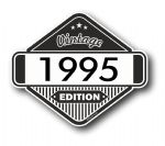 VIntage Edition 1995 Classic Retro Cafe Racer Design External Vinyl Car Motorcyle Sticker 85x70mm
